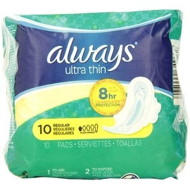 Always Ultra Thin Pads Regular Flexi-Wings 10 ea