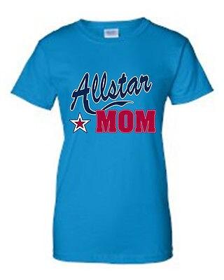 JUNIORS T-SHIRT Allstar Mom MOTHER TEE THE BEST MOMMY SPORTS TOP S M L XL 2XL