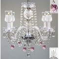 Crystal Chandelier Lighting With Candle Votives H17 W17 For Indoor/Outdoor Use - Thumbnail 0