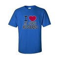 UNISEX T-SHIRT I Love My Crazy Husband FUNNY COUPLES VALENTINE'S DAY TOP S-4X 5X - Thumbnail 2
