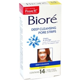 Biore Combo Pack Deep Cleansing Pore Strips Face/Nose 14 Each