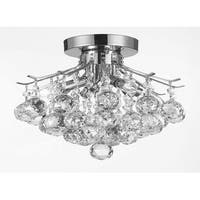 French Empire Crystal Flush Chandelier Lighting H8 x W12
