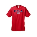 MEN'S T-SHIRT USA AMERICAN FLAG TEE PATRIOTIC STARS STRIPES RED WHITE BLUE S-5XL - Thumbnail 2