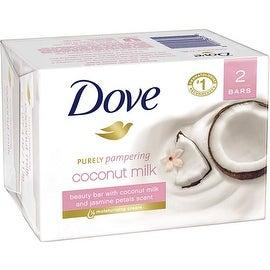 Dove Purely Pampering Coconut Milk Beauty Bars, Jasmine Petals Scent 4 oz , 2 ea