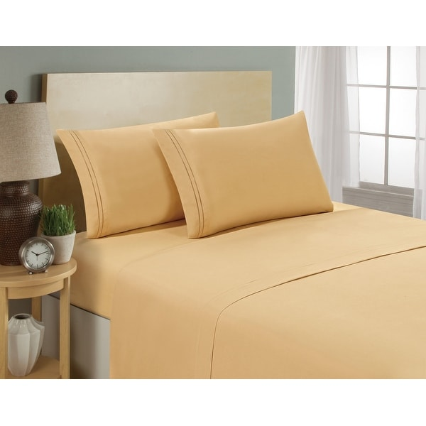 Zen Bamboo Luxury 1500 Series Bed Sheets Hypoallergenic and Wrin Eco-Friendly