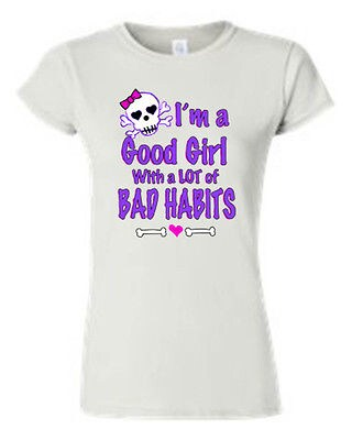 Shop Juniors Funny T Shirt I M A Good Girl With A Lot Of