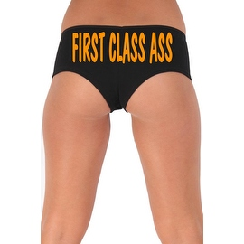 Women's Sexy Hot Booty Boy Shorts First Class Ass Wavy Orange Bold Style Type Lingerie