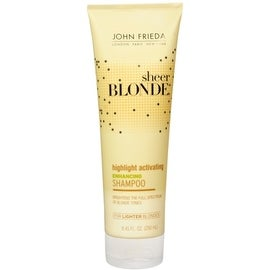 John Frieda Sheer Blonde 8.45-ounce Highlight Activating Enhancing Shampoo for Lighter Blondes