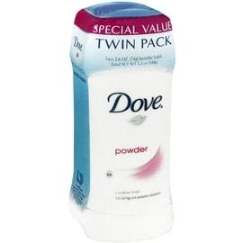 Dove Anti-Perspirant Deodorant Invisible Solid, Powder, Twin Pack 5.20 oz