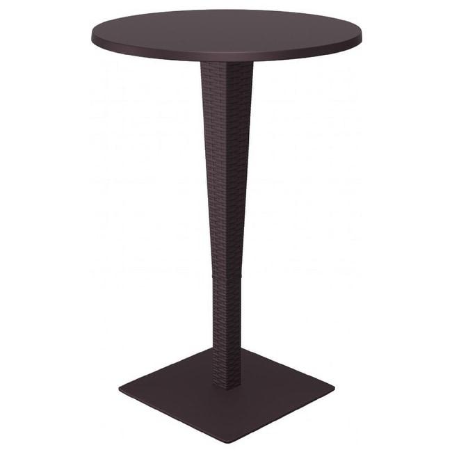 Riva Werzalit Round Top Bar Height Table, Riva Werzalit Round Top Bar Height Tab