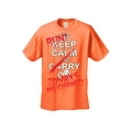 Men's T-Shirt Keep Calm and Run! Zombies are Coming!!! Undead Death Kill Tee - Thumbnail 3