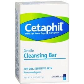 Cetaphil Gentle Cleansing Bar for Dry/Sensitive Skin 4.50 oz