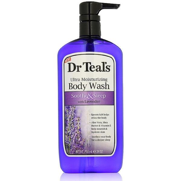 Dr Teal's Ultra Moisturizing Body Wash, Soothe & Sleep with Lavender 24 oz