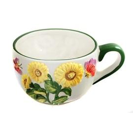 Butterfly Sunflower Mug by Russ Berrie