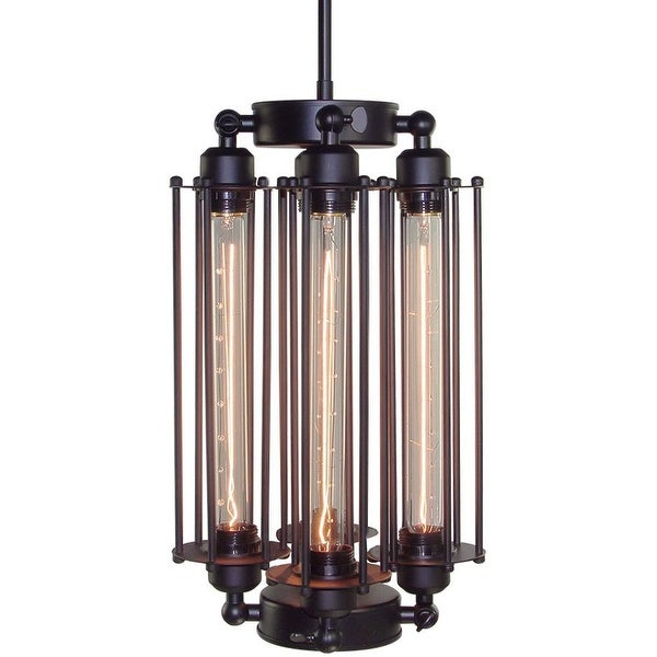 4 light matte black vintage industrial pendant lamp light chandelier