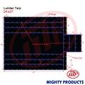 Xtarps - 24' x 27' Flatbed Truck Tarp - Light Weight Lumber Tarp with 8' Drop - Thumbnail 0