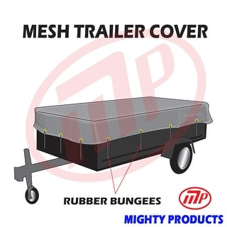 """Xtarps utility trailer mesh cover with 10 pcs of 9"""" rubber bungee 8x8 (MT-TT-0808)"""
