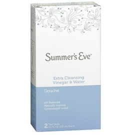 Summer's Eve Extra Cleansing Vinegar & Water Douche 2 Each