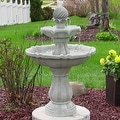 Sunnydaze Two Tier Solar-on-Demand Fountain, 35 Inch Tall - Thumbnail 9
