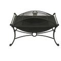 "19"" Rectangular Design Bronze & Black Fire Pit with Spark Screen Guard - Thumbnail 1"