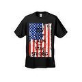 Men's T-Shirt USA Flag Keep Calm & Stay Strong Stars & Stripes America Patriotic - Thumbnail 7