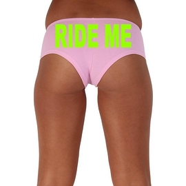 Women's Sexy Hot Booty Boy Shorts Ride Me Block Green Bold Style Type Lingerie