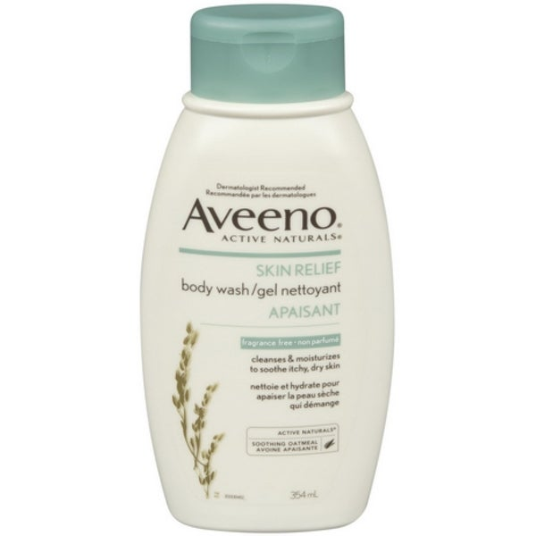 AVEENO Active Naturals Skin Relief Body Wash Fragrance Free 12 oz