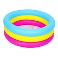 "30"" Inflatable Pink Yellow and Blue Children's Swimming Pool - Thumbnail 1"