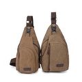 Vintage Canvas Satchel School Military Men's Hiking Shoulder Bag Messenger Bag - Thumbnail 3