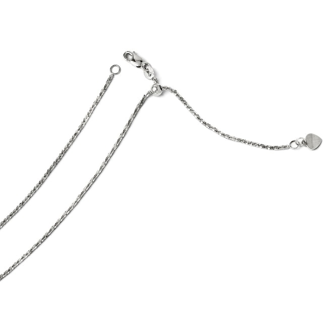 Italian 14k White Gold Adjustable Cyclone - 22 inches