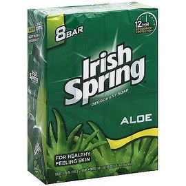 Irish Spring Aloe 3.75-ounce Deodorant Bar Soap (8 Bar Pack)