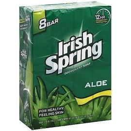 Irish Spring Aloe 3.75-ounce Deodorant Bar Soap (8 Bar Pack)