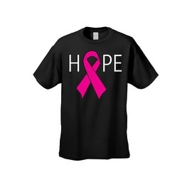 Unisex T Shirt HOPE Pink Support Breast Cancer Support Awareness Cure Fight Tee (Option: 5xl)