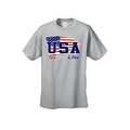Men's USA Flag T Shirt Distressed Red, White & Blue Pride Old Glory Stars/ Stripes - Thumbnail 6