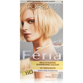 L'Oreal Paris Feria Multi-Faceted Shimmering Color Very Light Beige Blonde [110] (Cooler)