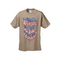 Men's Patriotic T-Shirt Peace Love Freedom Stars & Stripes Patriotic Vet Hippie Tee - Thumbnail 8