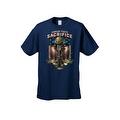 Men's T-Shirt USA Flag Honor Their Sacrifice Veteran American Bald Eagle Military - Thumbnail 6