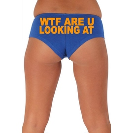 Women's Sexy Hot Booty Boy Shorts WTF Are You Looking At? Block Orange Bold Style Type Lingerie