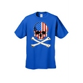 Men's T-Shirt USA Flag Skull Crossed Bones American Pride Stars/Stripes Patriotic - Thumbnail 6