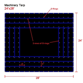 Xtarps - 24' x 28' Truck Tarp - Machinery Tarp - Heavy Duty, Industrial Grade