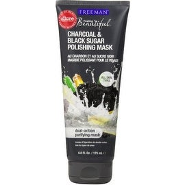 Freeman Feeling Beautiful Facial Polishing Mask, Charcoal & Black Sugar 6 oz