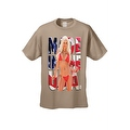 Men's T-Shirt Made In The USA Flag Sexy Blond Girl Stars & Stripes Hot Chick Tee - Thumbnail 2