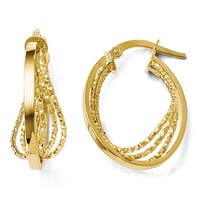 Italian 14k Gold Polished Twist Hoop Earrings