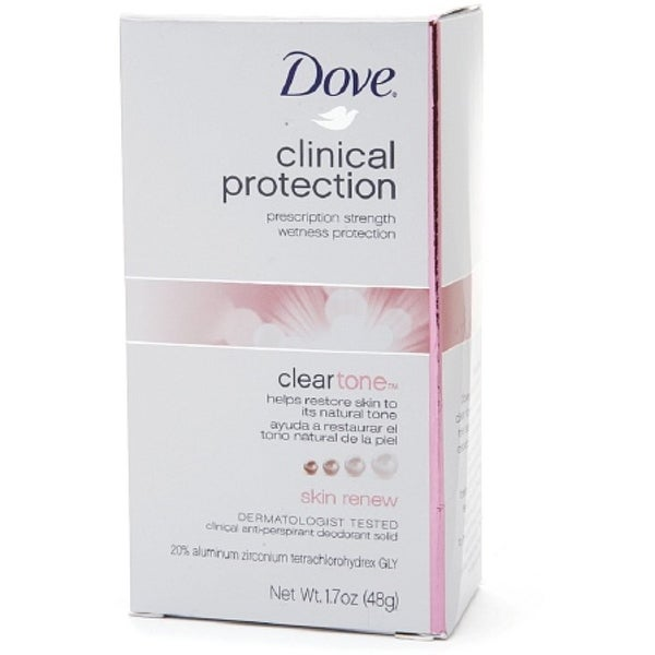 Dove Clinical Protection Clear Tone Antiperspirant & Deodorant, Skin Renew 1.7 oz