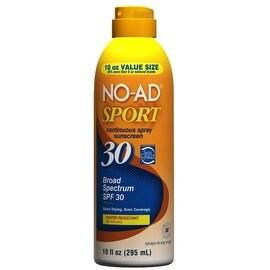NO-AD Sport Continuous Spray Sunscreen, SPF 30 10 oz