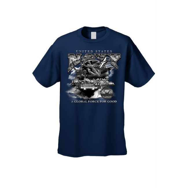 Men's T-Shirt United States Navy A Global Force For Good Military Naval Graphic Tee