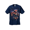 Men's T-Shirt USA Flag Skulls In Chains Stars & Stripes Pride American Graphic Tee - Thumbnail 14