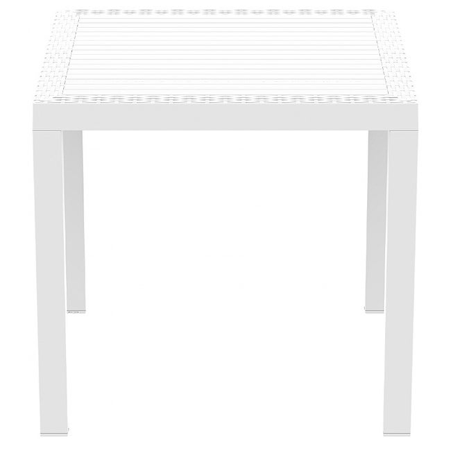 Orlando Resin Wickerlook Square Dining Table, Orlando Resin Wickerlook Square Di