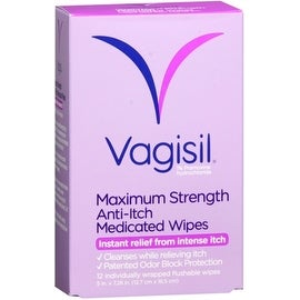 Vagisil Anti-Itch Medicated Wipes 12 Each