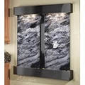 Adagio Cottonwood Falls Fountain w/ Black Spider Marble in Rustic Copper Finish - Thumbnail 6